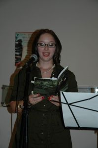 "Me reading from ""Sad Girl Poems"""