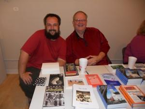 Justin and Rev William Grimbol, father/son author duo